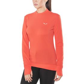SALEWA Pedroc PTC T-shirt à manches longues Femme, hot coral